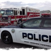 police and fire with thunder outreach event