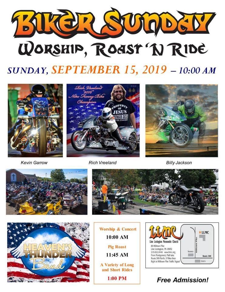 Heaven's Thunder Band Live at Biker Sunday Sept 15 - Thunder Outreach